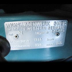 1965 1973 Vw Volkswagen Vin Name Plate For Beelte Bus Ghia