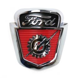 Ford Gear Amp Lightning Bolt Shield Hood Ornament Emblem F