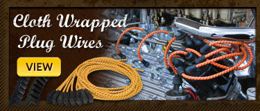 Cloth Wrapped Spark Plug Wires
